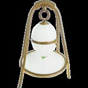 "Palais Royal White Opaline Casket  Hinged Box ""RARE STAND"""