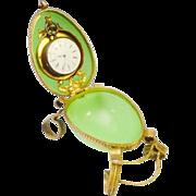 """Palais Royal Green Opaline Watch Holder  """"MAGNIFICENT GREEN OPALINE"""""""