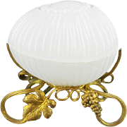 "Palais Royal Baccarat White Opaline Box ""BEAUTIFUL"""