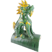 """19C Chinese Roof Tile    """"THE MOST WONDERFUL FOO DOG'"""