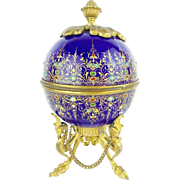 """SALE t Antique French Sevres Jeweled & Enamel Scent Casket MAGNIFICENT W THREE BOTTLES"""""""