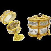 "REDUCED Antique French Scent Casket 'FABULOUS SCENT BOTTLES"""