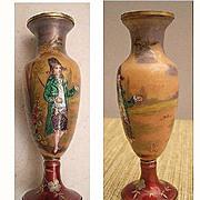 SALE Magnificent Antique Viennese Figural Miniature Enamel Vase
