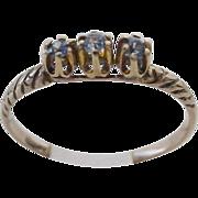 "14KARAT  Tanzanite  Ring "" Three Stones"""