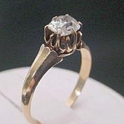 SALE RL      Antique  Oval Diamond Ring   14KARAT