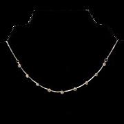 SALE Stunning 14K Diamond Necklace