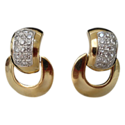 REDUCED Grandest 14Karat Diamond Door Knocker Earring