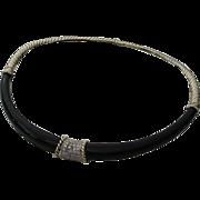 SALE Black Onyx and Diamond Choker Necklace 14KARAT