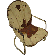 SOLD Adorable  Shabby Chic Metal Rocking Doll Chair