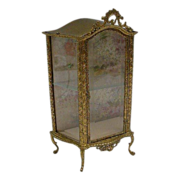 "Antique French Miniature Vitrine Curio""Doll or Small Treasures"""