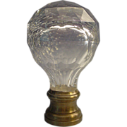 SOLD Antique French  Crystal  Cut to Clear Newel Post, Boule d'escalier