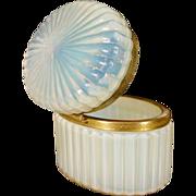 Antique French Bulle de Savon Opaline Casket Hinged Box