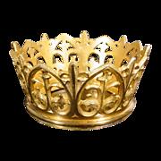 SALE Antique French Bronze Crown