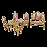 """Very Fine Antique Viennese Miniature Salon Set """"Six Pieces"""""""