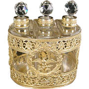 SALE Antique French Empire Style Scent Caddy