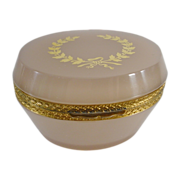SOLD Antique French Lavender Opaline Oval Hinged Box