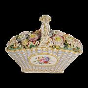 Magnificent Antique Coalbrookdale Porcelain Basket