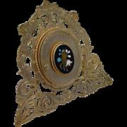 "Stunning Antique Pietra Dura Frame ""Easel Back"""