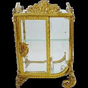 SALE Grandest Antique French Miniature Curio Vitrine