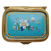 SOLD Beautiful Antique Sevres Enamel Casket Hinged Box