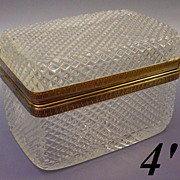SOLD Antique French Cut Crystal Hinged Box