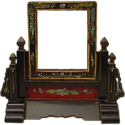 "SALE Antique Chinese Table Vanity Mirror ""RARE"""