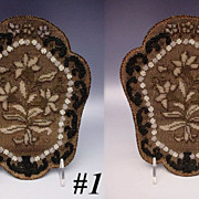 "SOLD Antique Beaded Face Screens  ""PAIR"""