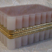 SOLD Magnificent French Pink Opaline Hinged Box