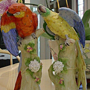 "SOLD Sitzendorf Birds ""Colorful Pair"""