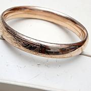 SALE Gold Filled Hinged Bangle Bracelet