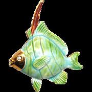 SALE Original by Robert Enameled Fish Brooch