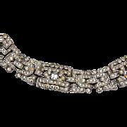 SALE KTF Trifari Art Deco Rhinestone Bracelet