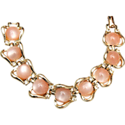SALE Coro Light Pink Thermoset Bracelet