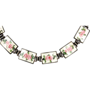 SALE Sterling and Guilloche Enamel Bracelet - Gorgeous!