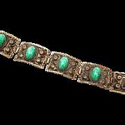 SALE Peking Glass 5 Link Bracelet
