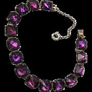 SALE Leach & Miller Sterling and Purple Stone Bracelet
