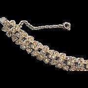 SALE Art Deco Pave' Rhinestone Bracelet