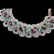 SALE Dodds Blue and Purple Rhinestone Bracelet