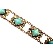 SALE Peking Glass and Seed Pearl Bracelet