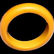 SALE Butterscotch Bakelite Bangle Bracelet