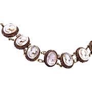 SALE 8 Mother of Pearl Cameo Bracelet GM
