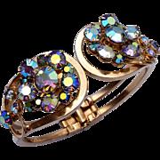 SALE AB Crystal Hinged Clamper Bracelet