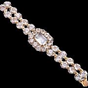 SALE Open Backed Unfoiled Crystal Bracelet