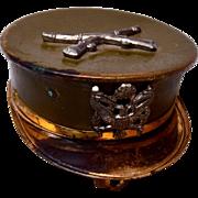 SALE Marine Cap Locket Sweetheart Locket Brooch