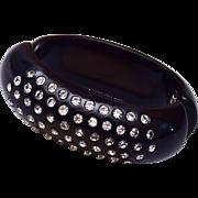 Weiss Black and Rhinestone Bracelet