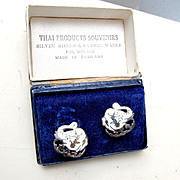 SALE Thai Siam Sterling Earrings in Original Box