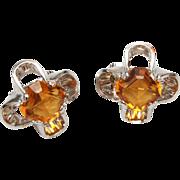 SALE Park Lane Unfoiled Topaz Rhinestone Earrings