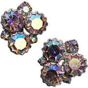 SALE Aurora Borealis Rhinestone Earrings