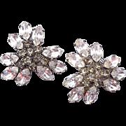 SALE Sandor Brilliant Rhinestone Earrings