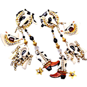 SALE Lunch at the Ritz Cow Girl Earrings